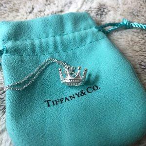 EUC Tiffany Crown Charm and Chain T&Co